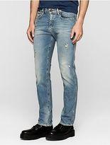 Calvin Klein Mens Straight Leg Heavily Bleached Jeans