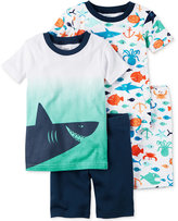 Carter's 4-Pc. Shark Cotton Pajama Set, Baby Boys (0-24 months)