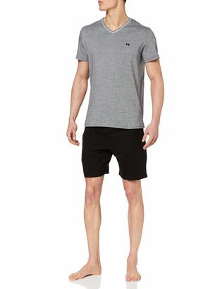 Hom Herren - Short Pyjama Set 'Onyx' - Comfortable Sleepwear - Black - M