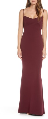 Katie May The Gina Backless Trumpet Gown