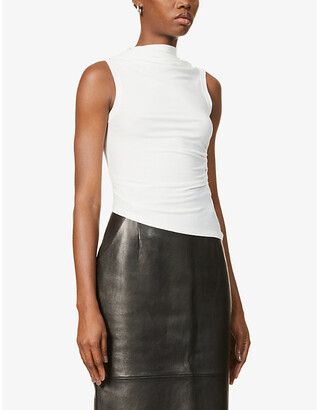 The Line By K Selma cowl-neck loose-fit stretch-jersey top
