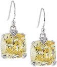 judith ripka canary crystal cushion earrings gift boxed