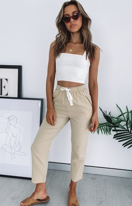 Nude Lucy Nude Classic Linen Pant Sand