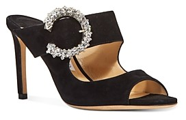 Jimmy Choo Women's Embellished Slip On 85 High Heel Sandals