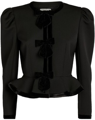 Alessandra Rich Peplum Crop Jacket