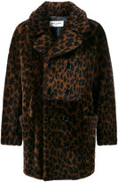 Saint Laurent leopard-print shearling coat - men - Leather/Sheep Skin/Shearling - 44