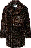 Saint Laurent leopard-print shearling coat