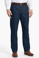 "Bonobos Blue Woven Regular Fit Flat Front Cotton Trouser - 30-36"" Inseam"