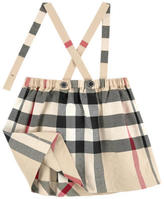 Burberry Check print skirt with removable braces - Beige