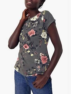 Oasis Trailing Floral T-Shirt, Dark Grey