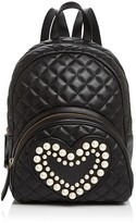 Moschino Faux-Pearl Heart Backpack