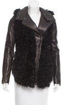 Mackage Shearling-Paneled Leather Jacket