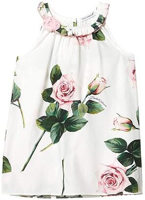 Dolce & Gabbana Abito S/Man Sleeveless Dress (Infant) (Rose Rosa Fdo Panna) Girl's Clothing