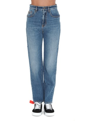 Palm Angels Indaco Straight Leg Jeans