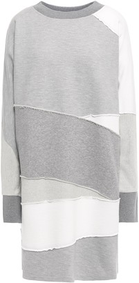 McQ Patchwork Melange French Cotton-terry Mini Dress