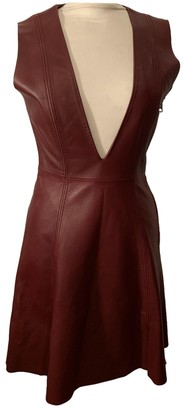 Acne Studios Burgundy Leather Dresses