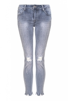 Quiz Blue Denim Diamante Jeans