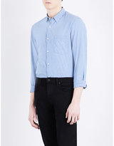 The Kooples Fitted Cotton And Linen-blend Shirt
