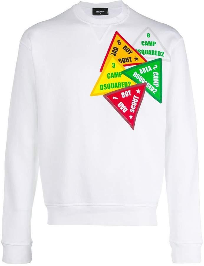 DSQUARED2 sign print sweatshirt