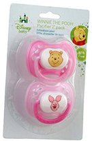 Winnie The Pooh Disney Baby Baby Pacifier 2 Pack - Pink & Light Pink by