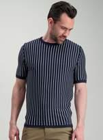 Tu Navy & White Stripe Knitted T-Shirt
