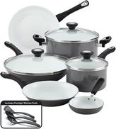 Farberware purECOok Ceramic Nonstick Cookware 12-Piece Cookware Set in Gray