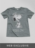 Junk Food Clothing Kids Boys Snoopy Rock On! Tee-steel-xs