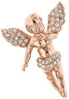 Luxurman Baby Diamond Little Angel Pendant 14K Mini Charm (Rose Gold)
