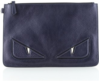 Fendi Monster Pouch Leather Large
