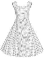 Nina Kilolone Women Sexy 50s Style Swing Vintage Retro Rockabilly Evening Dress 1XL