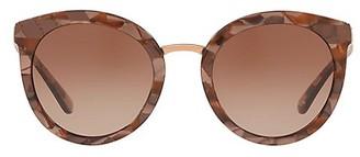Dolce & Gabbana Eternal 52MM Round Sunglasses