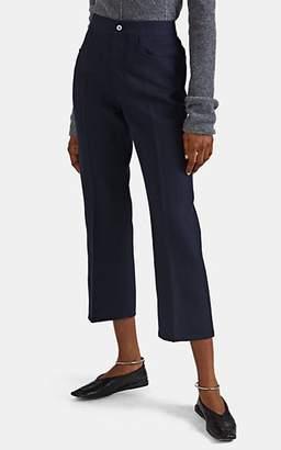 Jil Sander Women's Wool-Silk Crop Trousers - Navy