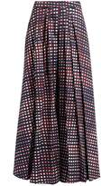 Stella Jean High-rise pleated checked culottes