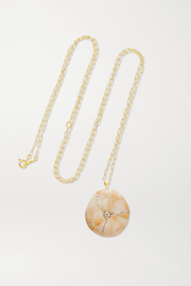 Cvc Stones Tea 18-karat Gold, Stone And Diamond Necklace - one size