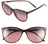 Maui Jim Women's 'Ocean' 57Mm Polarized Sunglasses - Grey Tortoise Stripe/ Grey