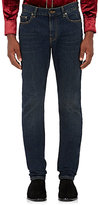 Saint Laurent Men's Stretch-Cotton Skinny Jeans-BLUE