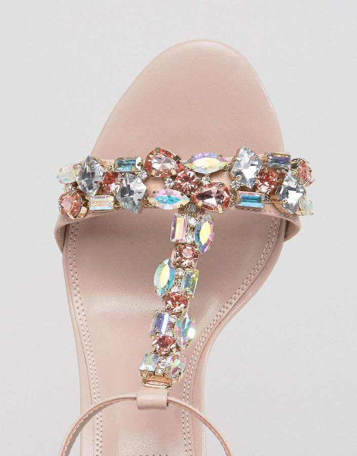 Dune Bridal Makeeta Blush Embellised Sandals