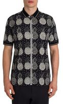 Dolce & Gabbana Pineapple Printed Zip-Up Shirt