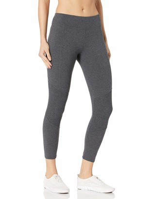 Andrew Marc Women's Cropped Legging with Ribbing Detail