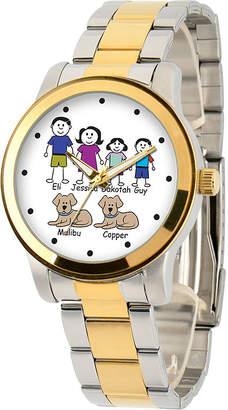 FINE JEWELRY Unisex Adult Two Tone Stainless Steel Bracelet Watch-41478-Tt