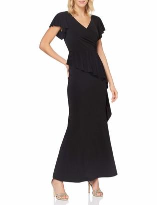 APART Fashion Women's Apart Elegantes Damen Kleid Abendkleid V-Ausschnitt in Wickeloptik mit Volant Special Occasion Dress