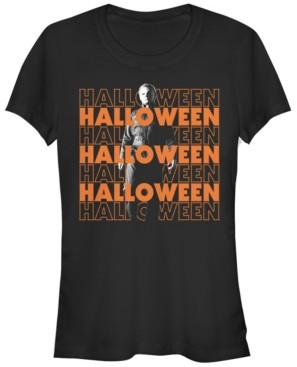 Fifth Sun Halloween 2 Women's Michael Myers Title Stack Short Sleeve Tee Shirt