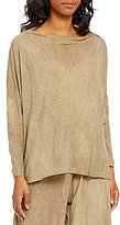Bryn Walker Dimitri Draped Neck Long Sleeve Solid Tunic