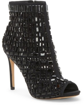 Jessica Simpson Wydlee Peep-Toe Embellished Booties Women's Shoes