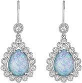Penny Preville 18k White Gold Teardrop Opal & Diamond Earrings