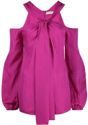 Emilio Pucci x Koche off-shoulder tie-neck blouse