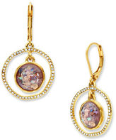 lonna & lilly Abalone and Glass Studded Orbital Drop Earrings