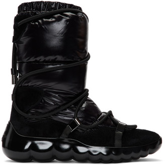 Moncler Black Cora Strappy Puffer Boots