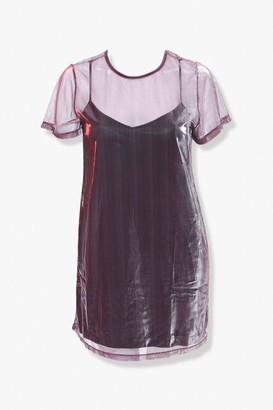 Forever 21 Plus Size Metallic Mesh T-Shirt Dress