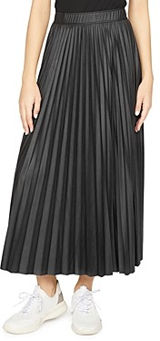 Sanctuary Top Secret Pleated Faux Leather Skirt